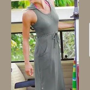 Athleta Hooded Tank Sleeveless Dress Gray